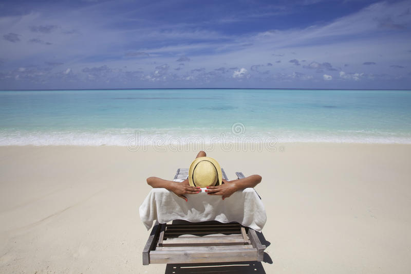 Lounge on Beach royalty free stock photography