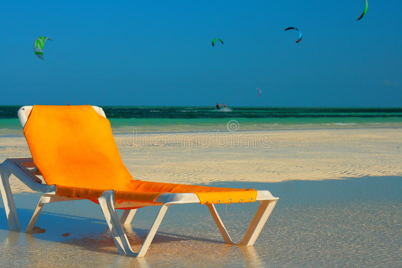 Download Lounge Chair On Beach Stock Image. Image Of Perfect, Paradise    23708657