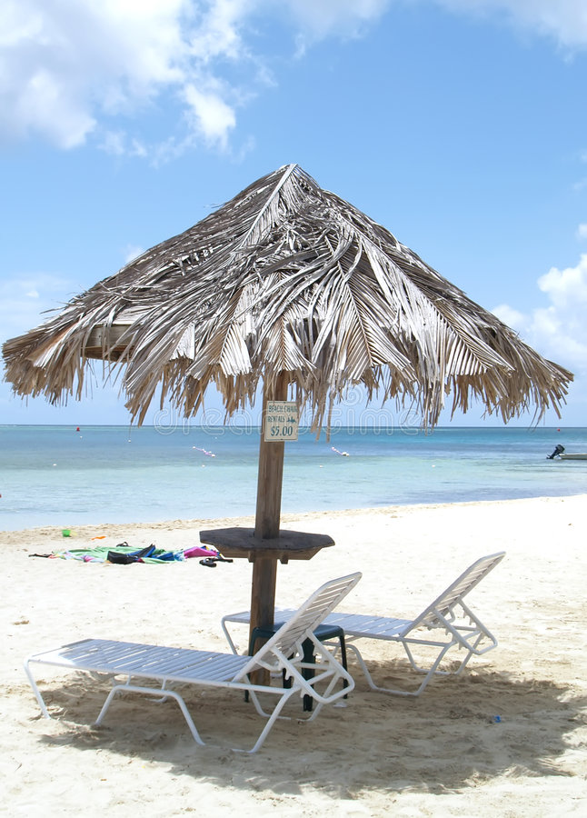Download Lounge chairs on beach stock photo. Image of paradise - 2907766