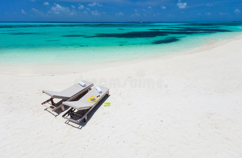 Download Lounge chairs on a beach stock image. Image of outdoor - 40163949
