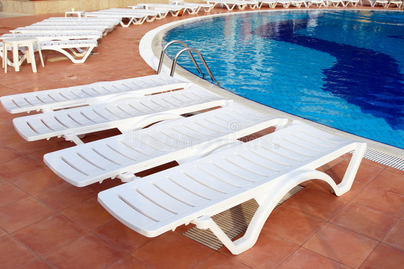 Lounge Chairs Near The Pool Stock Photo Image Of Pool