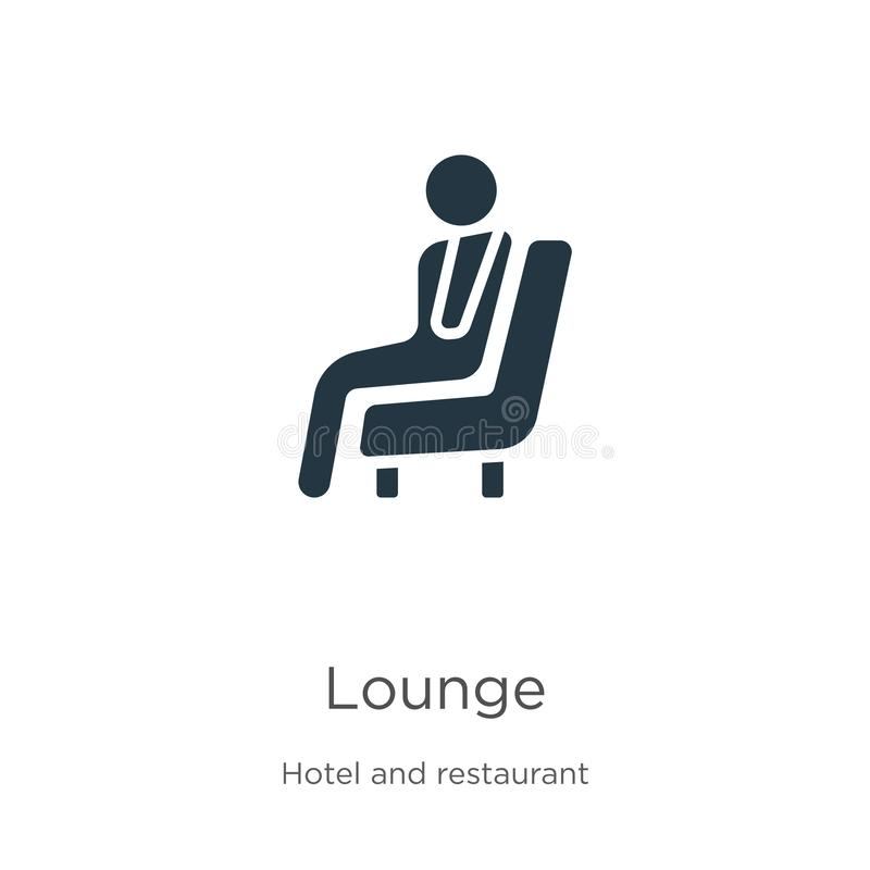 Lounge icon vector. Trendy flat lounge icon from hotel and restaurant collection isolated on white background. Vector illustration royalty free illustration