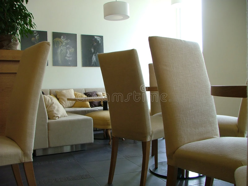Lounge interior stock photography
