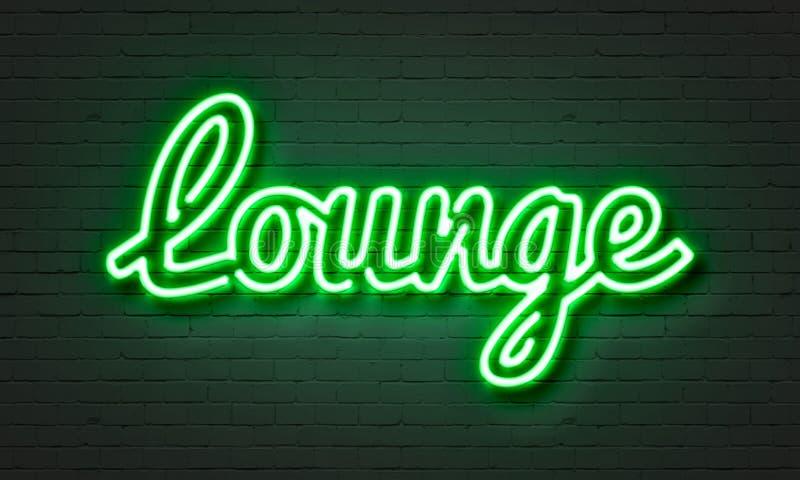 Lounge neon sign royalty free illustration