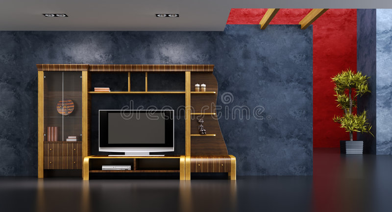 Download Lounge room interior stock illustration. Illustration of light - 8045141