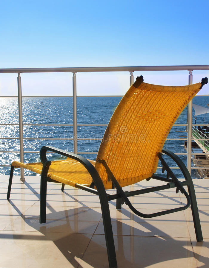 Download Lounger on the balcony stock photo. Image of lying, landscape - 26628016