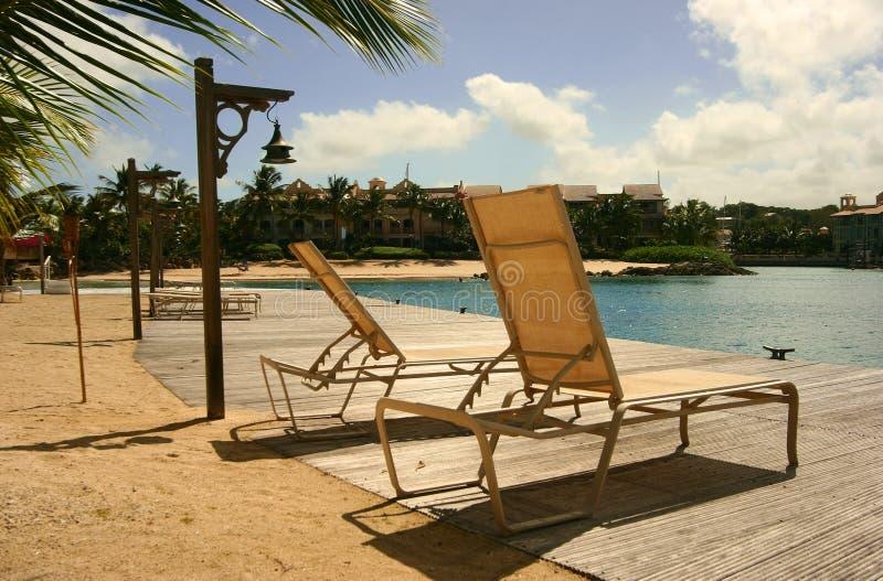 loungers słońce zdjęcia stock
