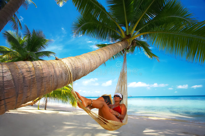 Lounging tropicale fotografie stock