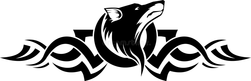 Loup illustration de vecteur