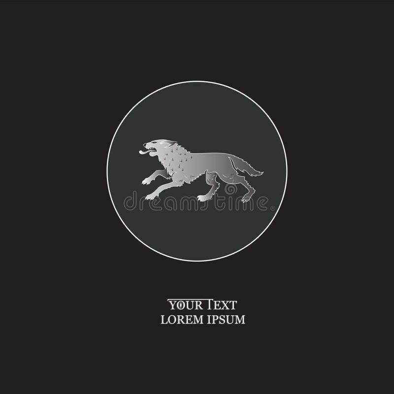 Loup cruel en cercle illustration libre de droits