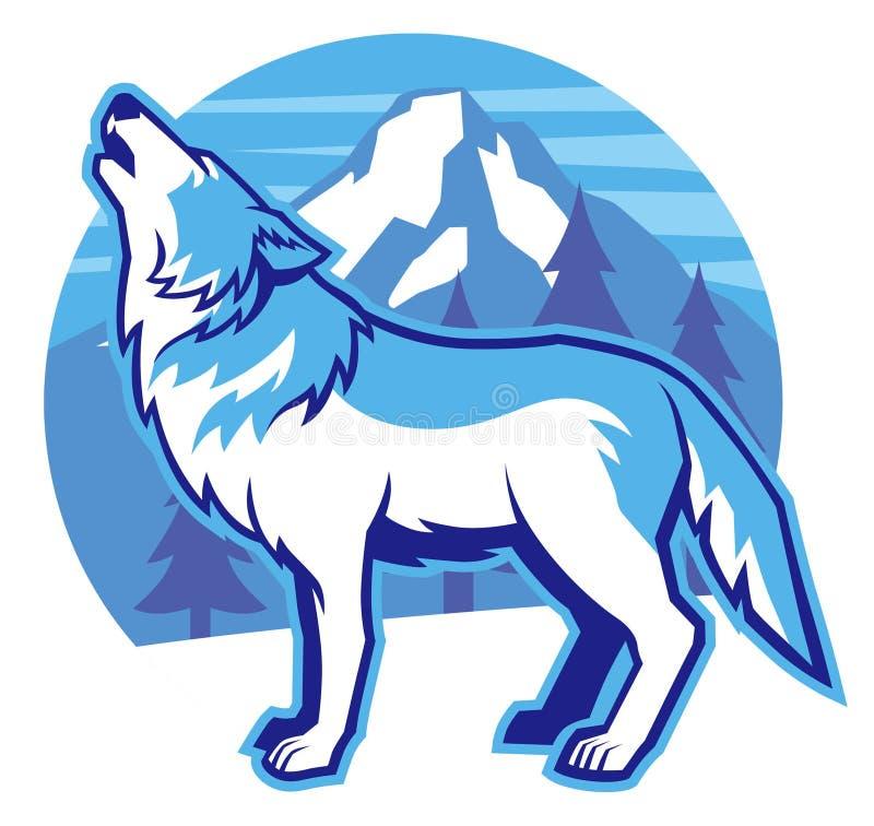 Loup d'hurlement illustration de vecteur