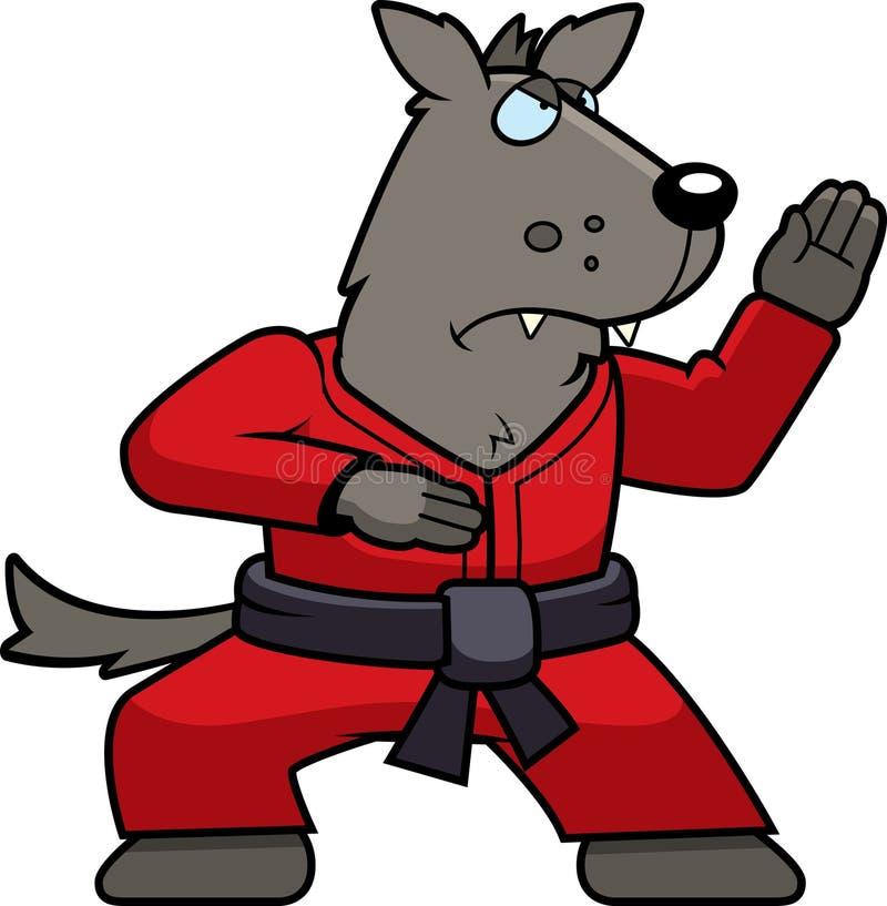 Loup de karaté illustration de vecteur