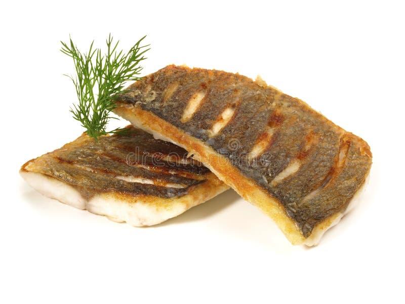 Loup de mer grillé - filet de poissons photos libres de droits
