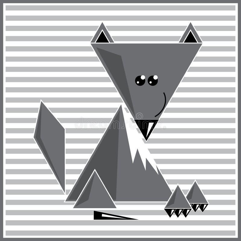 Loup géométrique abstrait photographie stock libre de droits