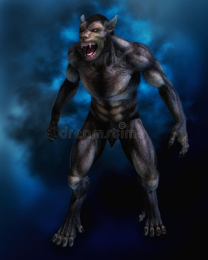 Loup-garou illustration libre de droits