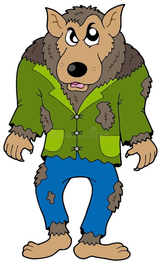 Loup-garou de dessin animé illustration stock