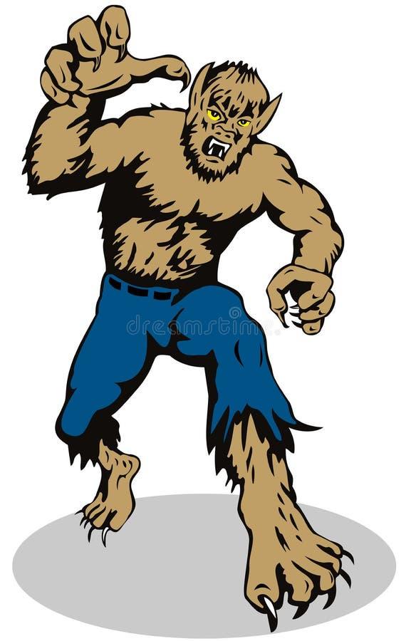 Loup-garou environ à attaquer illustration libre de droits