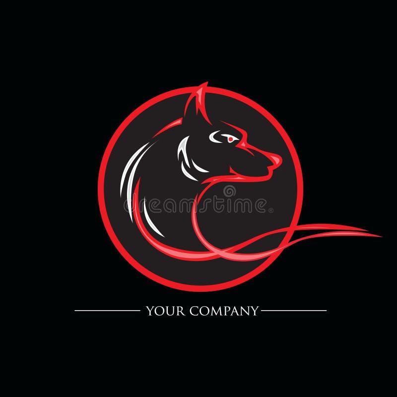 Loup principal rouge pour le magasin animal illustration libre de droits
