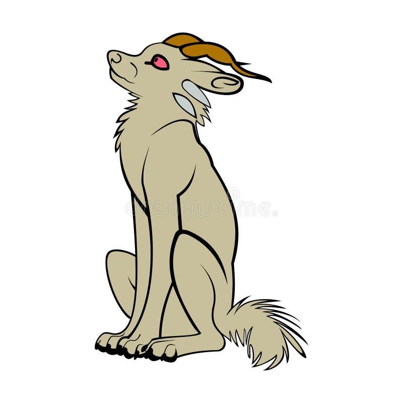 Loup seul images stock