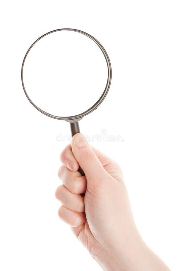 Loupe de fixation de main photo libre de droits