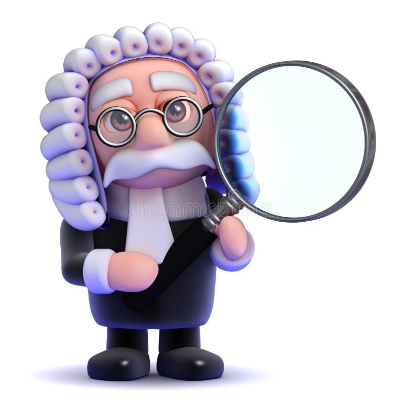 loupe du juge 3d illustration de vecteur