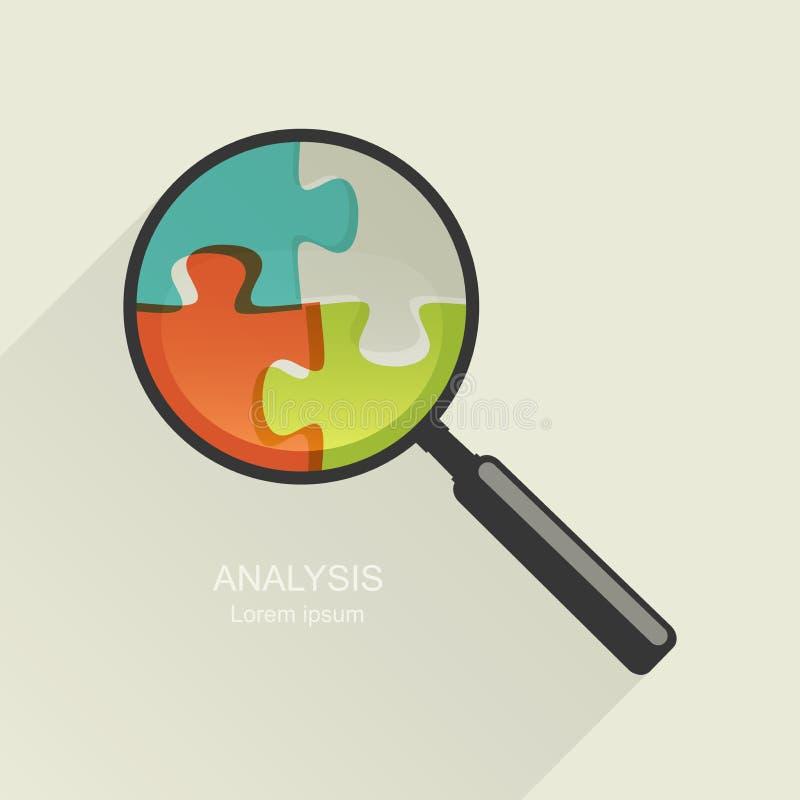 Loupe et puzzle illustration libre de droits