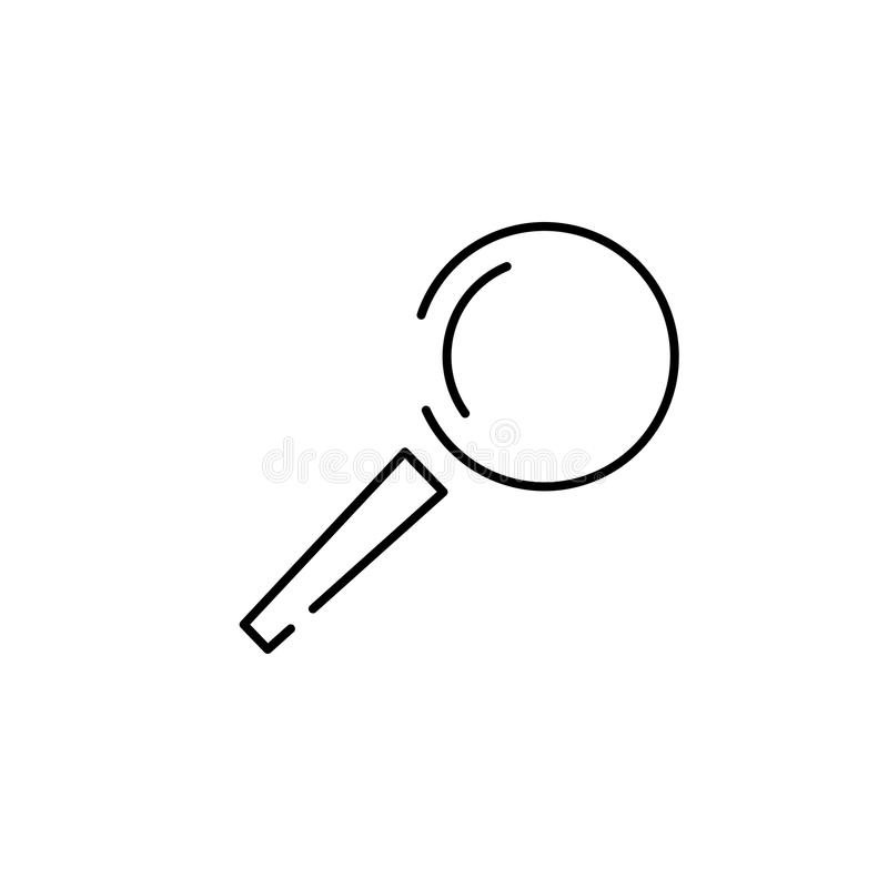 Loupe, magnifying glass search icon. Vector icon royalty free illustration