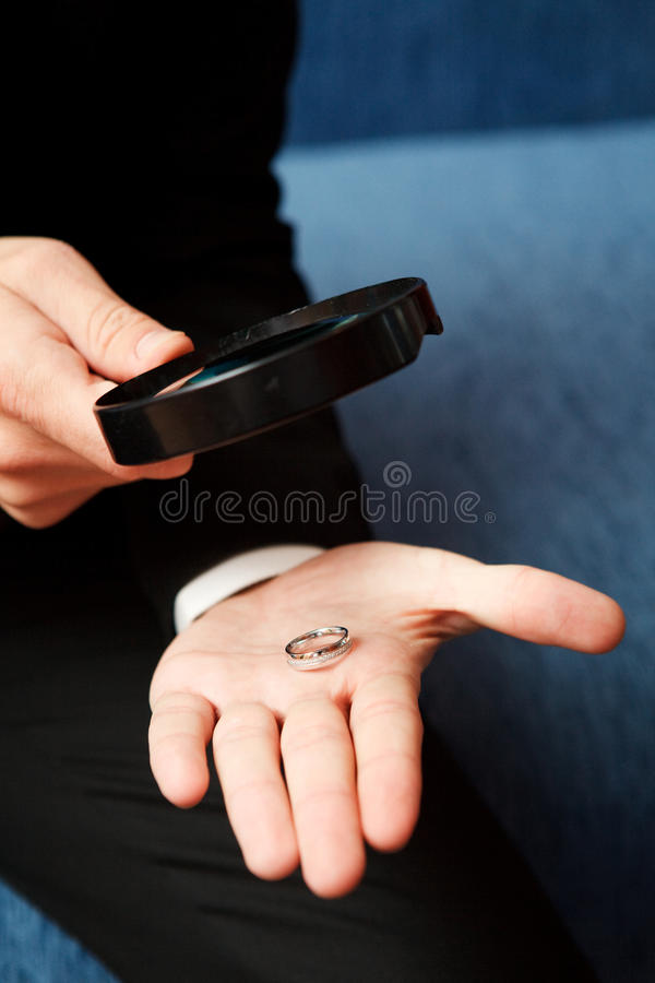Download Loupe and rings stock image. Image of engagement, beautiful - 12621285