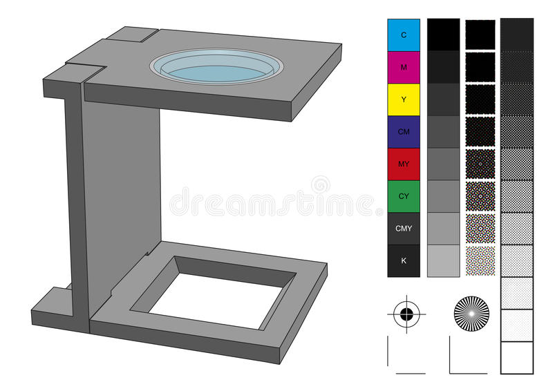 Loupe used in prepress vector illustration