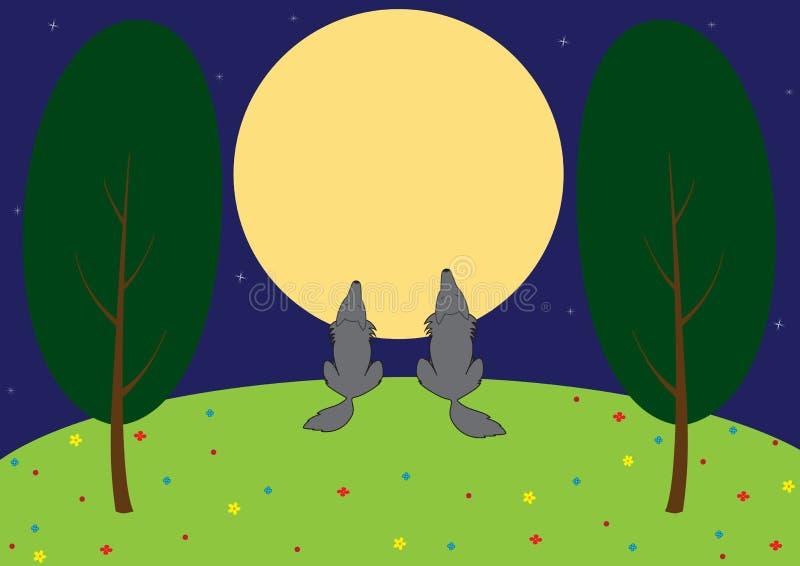 Loups dans le pré illustration libre de droits