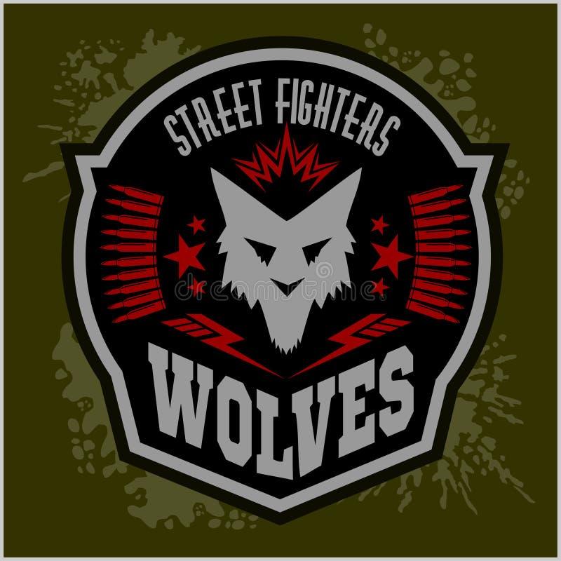 Loups - les militaires marquent, des insignes et conception illustration de vecteur