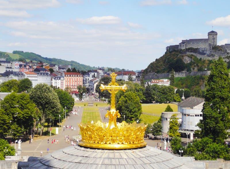 Lourdes Dome Top - la Francia fotografia stock libera da diritti