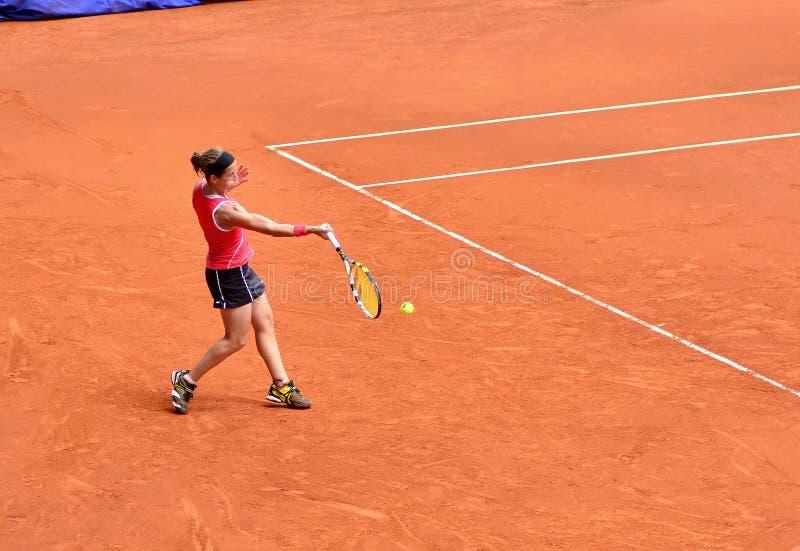 Lourdes Dominguez Lino no Madri aberto de WTA Mutua fotografia de stock royalty free