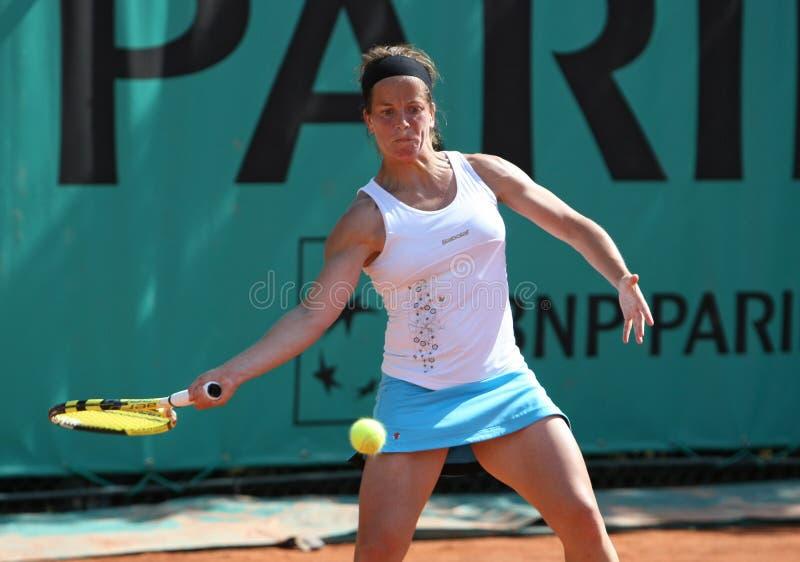 Lourdes DOMINGUEZ LINO (SPECIALMENTE) a Roland Garros 2010 fotografia stock