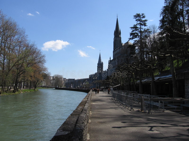Lourdes en France images libres de droits
