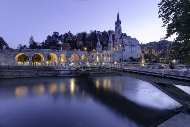 Lourdes Sanctuary stock foto's