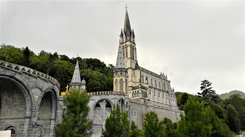 Lourdes sanktuarium Francja obraz stock