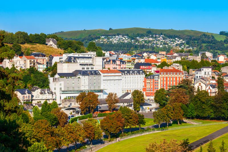 Lourdes small town in France royalty free stock photography