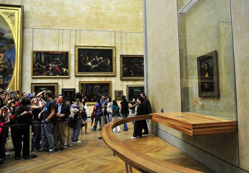 loure Mona mus Παρίσι lisa de ε στοκ εικόνες