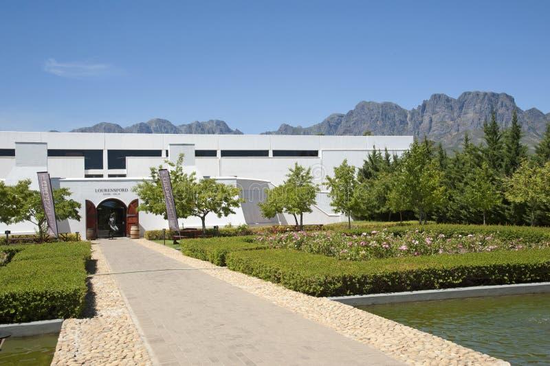 Lourensford-Weinkellerei in Somerset West South Africa lizenzfreies stockfoto
