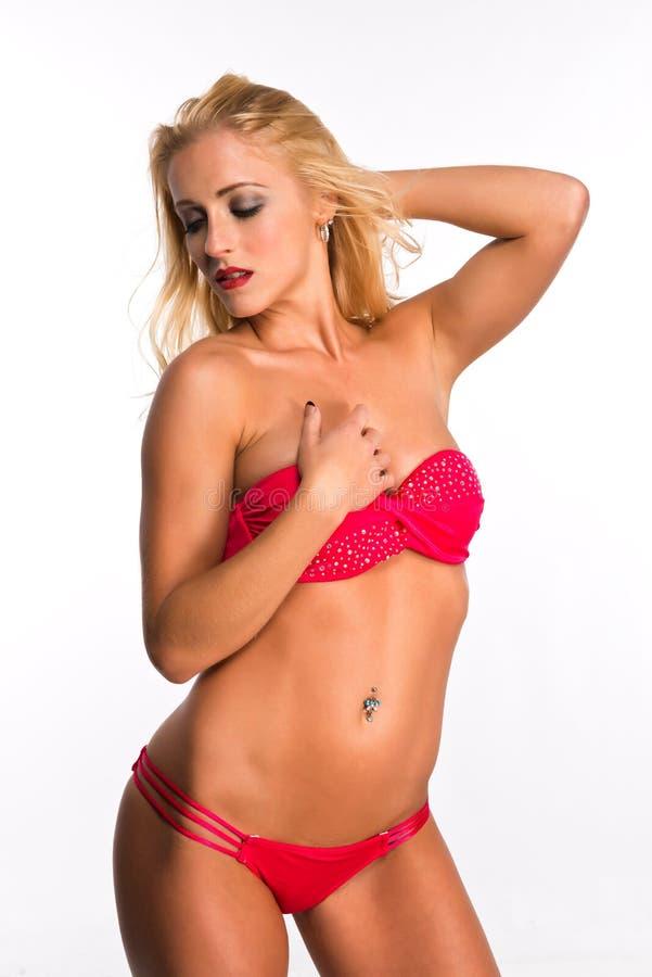 Download Louro imagem de stock. Imagem de sexy, longo, bikini - 29848651