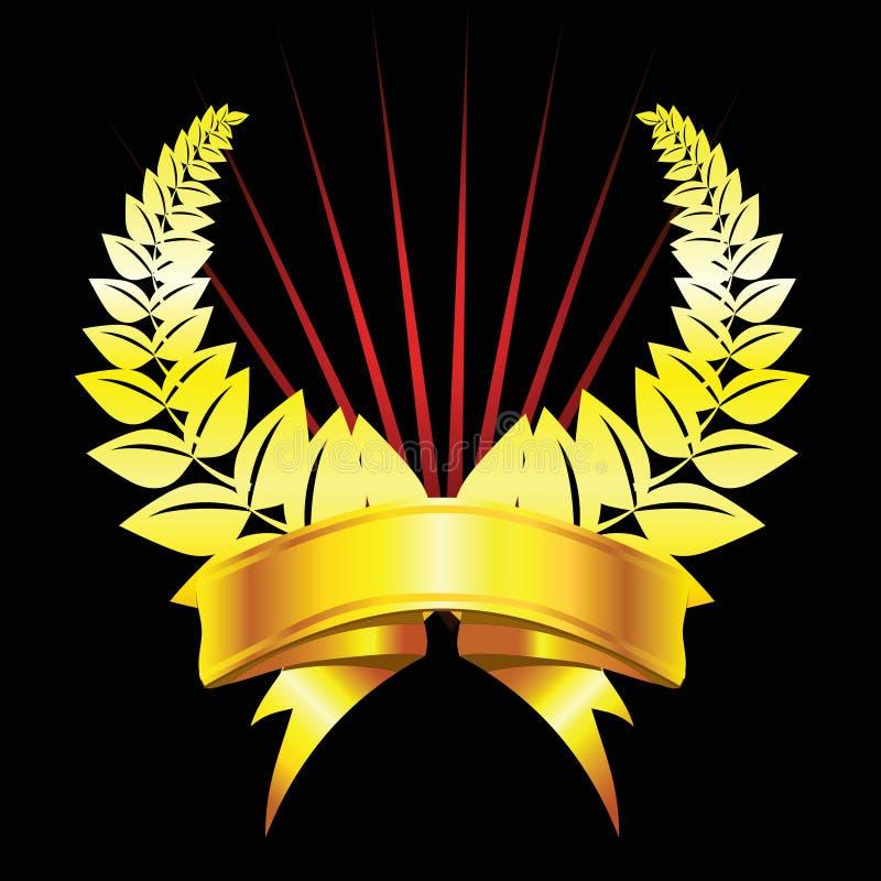 Louro com fita ilustração royalty free
