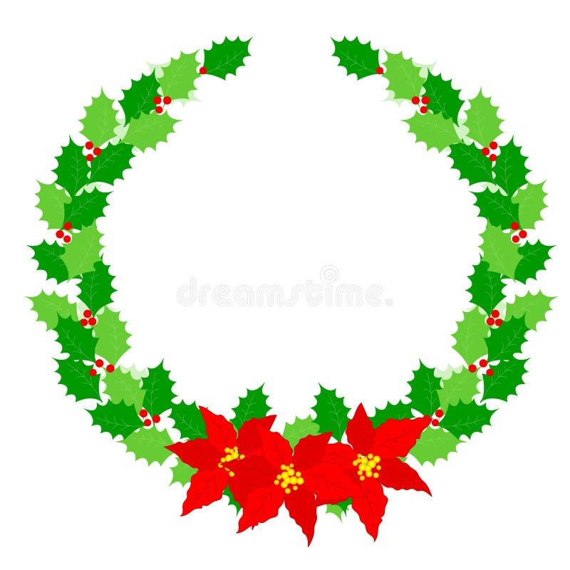 Louro da grinalda do Natal ilustração do vetor