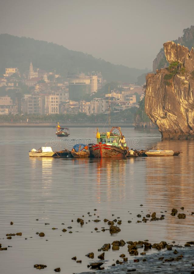 Louro de Halong, Vietnam fotografia de stock royalty free