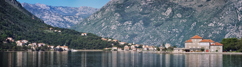 Louro de Kotor em Montenegro imagens de stock
