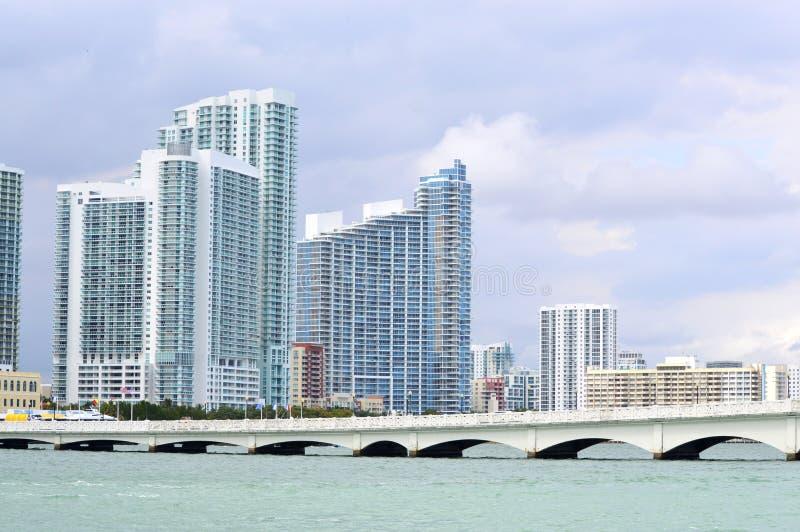 Louro de Miami com Jetski imagem de stock royalty free