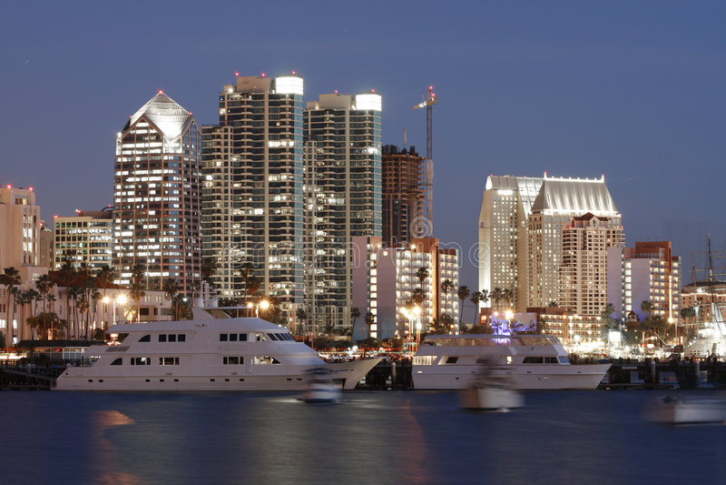 Louro de San Diego, Ca, skyline foto de stock
