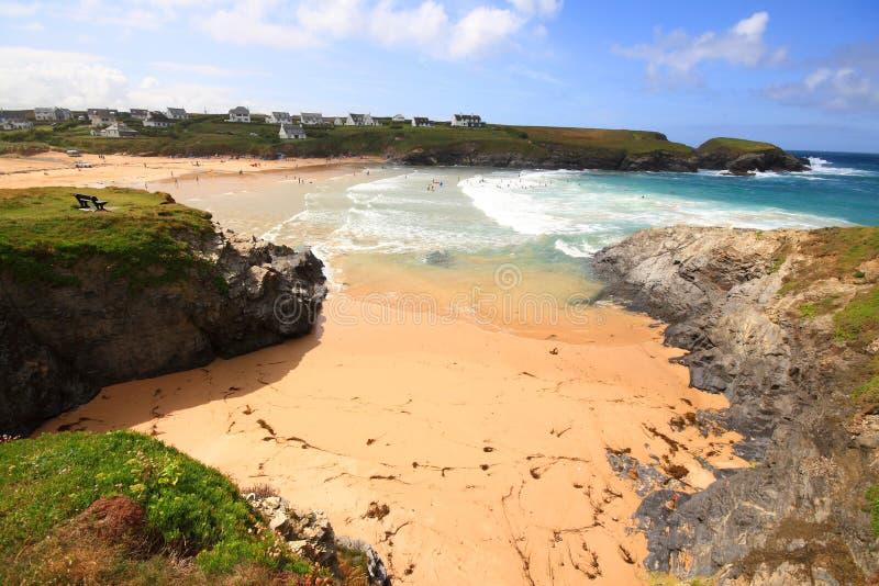 Download Louro De Treyarnon No Verão Foto de Stock - Imagem de areia, feriado: 12808008
