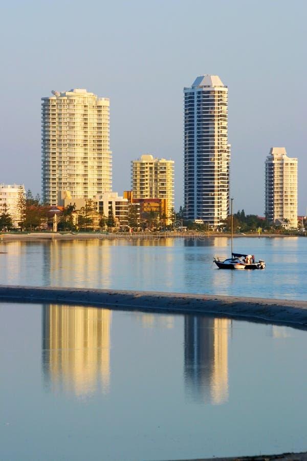 Louro Gold Coast Austrália do fugitivo fotografia de stock royalty free