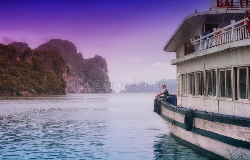 Louro Vietnam de Halong foto de stock